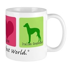 Peace Love Italian Greyhound Mug
