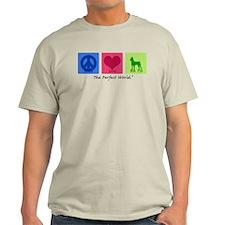 Peace Love Min Pin T-Shirt