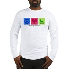 Peace Love Min Pin Long Sleeve T-Shirt