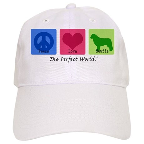 Peace Love Newfie Cap