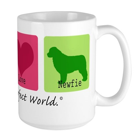 Peace Love Newfie Large Mug