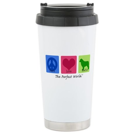Peace Love Newfie Ceramic Travel Mug