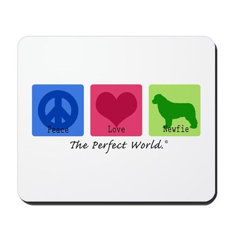 Peace Love Newfie Mousepad