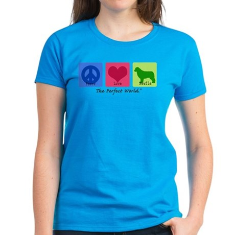 Peace Love Newfie Women's Dark T-Shirt