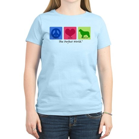 Peace Love Newfie Women's Light T-Shirt