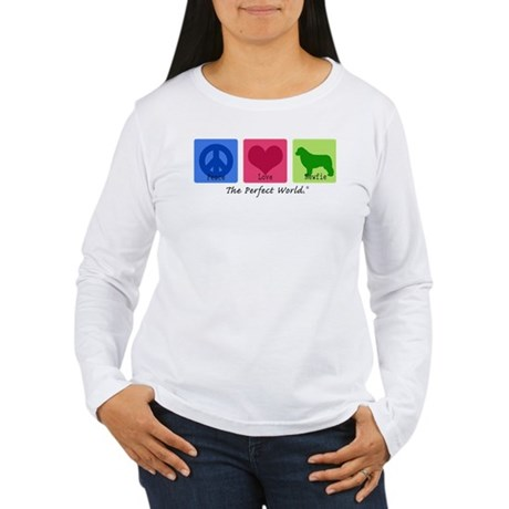 Peace Love Newfie Women's Long Sleeve T-Shirt