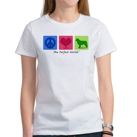 Peace Love Newfie Women's T-Shirt