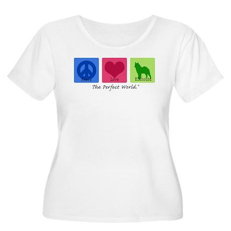 Peace Love Elkhound Women's Plus Size Scoop Neck T