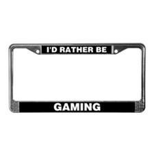 Rather be gaming: License Plate Frame