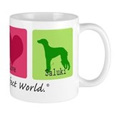 Peace Love Saluki Mug