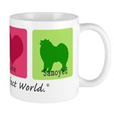 Peace Love Samoyed Coffee Mug
