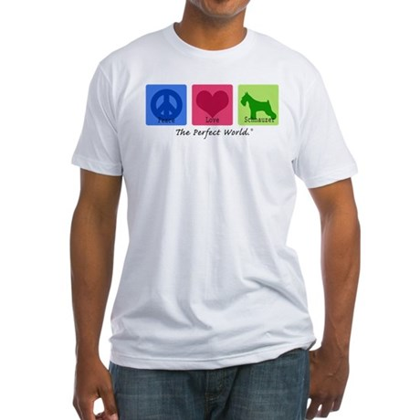 Peace Love Schnauzer Fitted T-Shirt