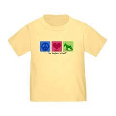 Peace Love Schnauzer Toddler T-Shirt