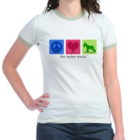 Peace Love Schnauzer Jr. Ringer T-Shirt