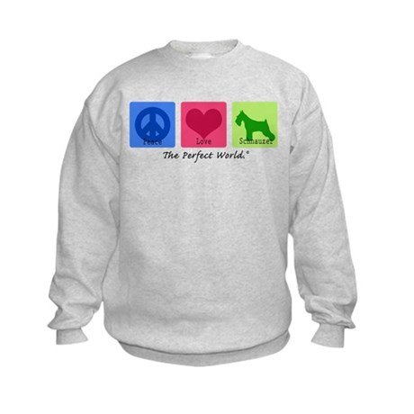 Peace Love Schnauzer Kids Sweatshirt