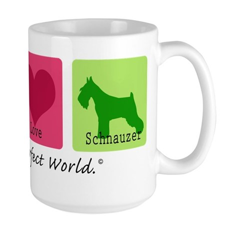 Peace Love Schnauzer Large Mug