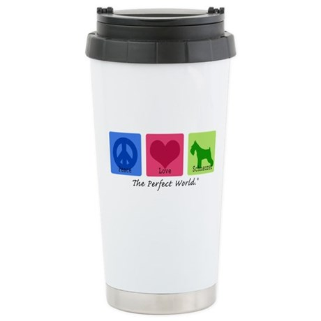 Peace Love Schnauzer Ceramic Travel Mug