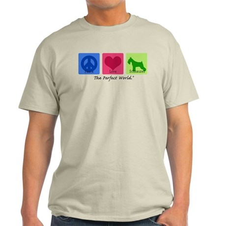 Peace Love Schnauzer Light T-Shirt