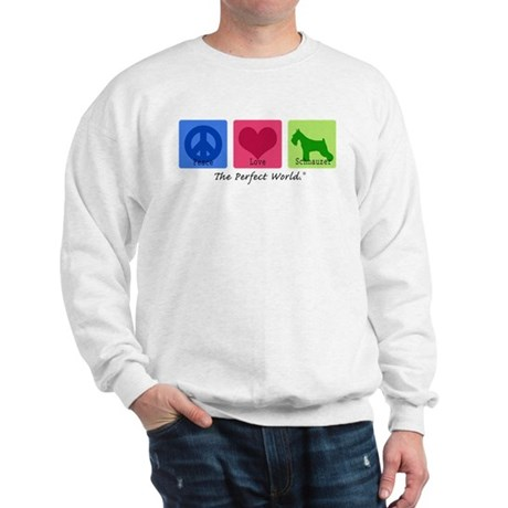 Peace Love Schnauzer Sweatshirt