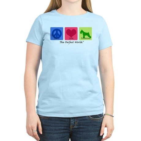 Peace Love Schnauzer Women's Light T-Shirt