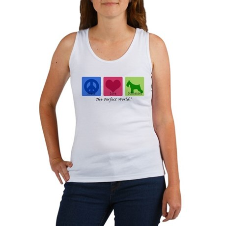 Peace Love Schnauzer Women's Tank Top