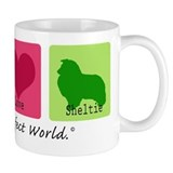 Peace Love Sheltie Coffee Mug