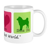 Peace Love Shiba Inu Small Mugs
