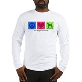 Peace Love Smooth Fox Long Sleeve T-Shirt