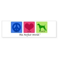 Peace Love Vizsla Bumper Car Sticker