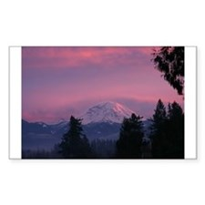 Mt Rainier Rectangle Sticker 10 pk)