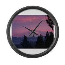 Mt Rainier Large Wall Clock