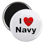 I Love Navy Magnet