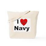 I Love Navy Tote Bag