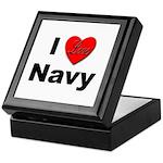 I Love Navy Keepsake Box