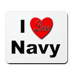 I Love Navy Mousepad