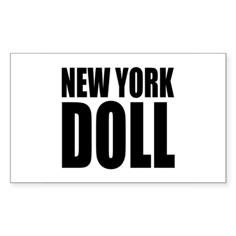 New York Doll Rectangle Sticker