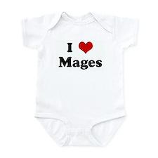 I Love Mages Infant Bodysuit