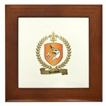 HOUSSEAU Family Crest Framed Tile