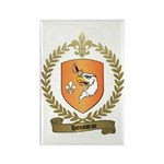 HOUSSEAU Family Crest Rectangle Magnet (100 pack)