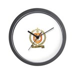HOUSSEAU Family Crest Wall Clock