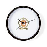 HOUSSEAU Family Crest Wall Clock