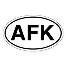 AFK oval sticker