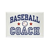 Baseball Coach Rectangle Magnet