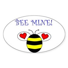 BEE MINE Oval Decal