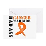 Bad Ass Leukemia Warrior Greeting Cards (Pk of 10)