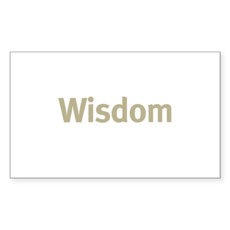 Wisdom Rectangle Sticker 50 pk)
