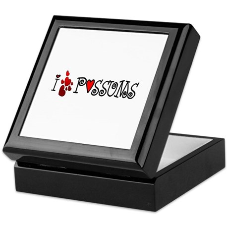I Love Hearts Possums Keepsake Box
