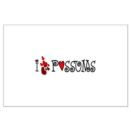 I Love Hearts Possums Large Poster