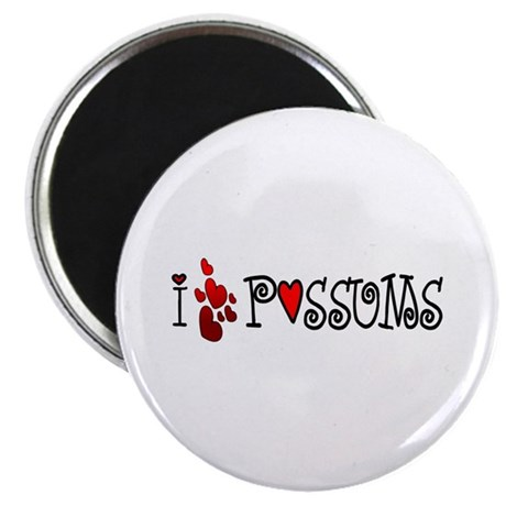 I Love Hearts Possums Magnet