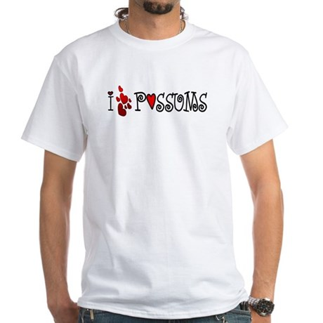 I Love Hearts Possums White T-Shirt